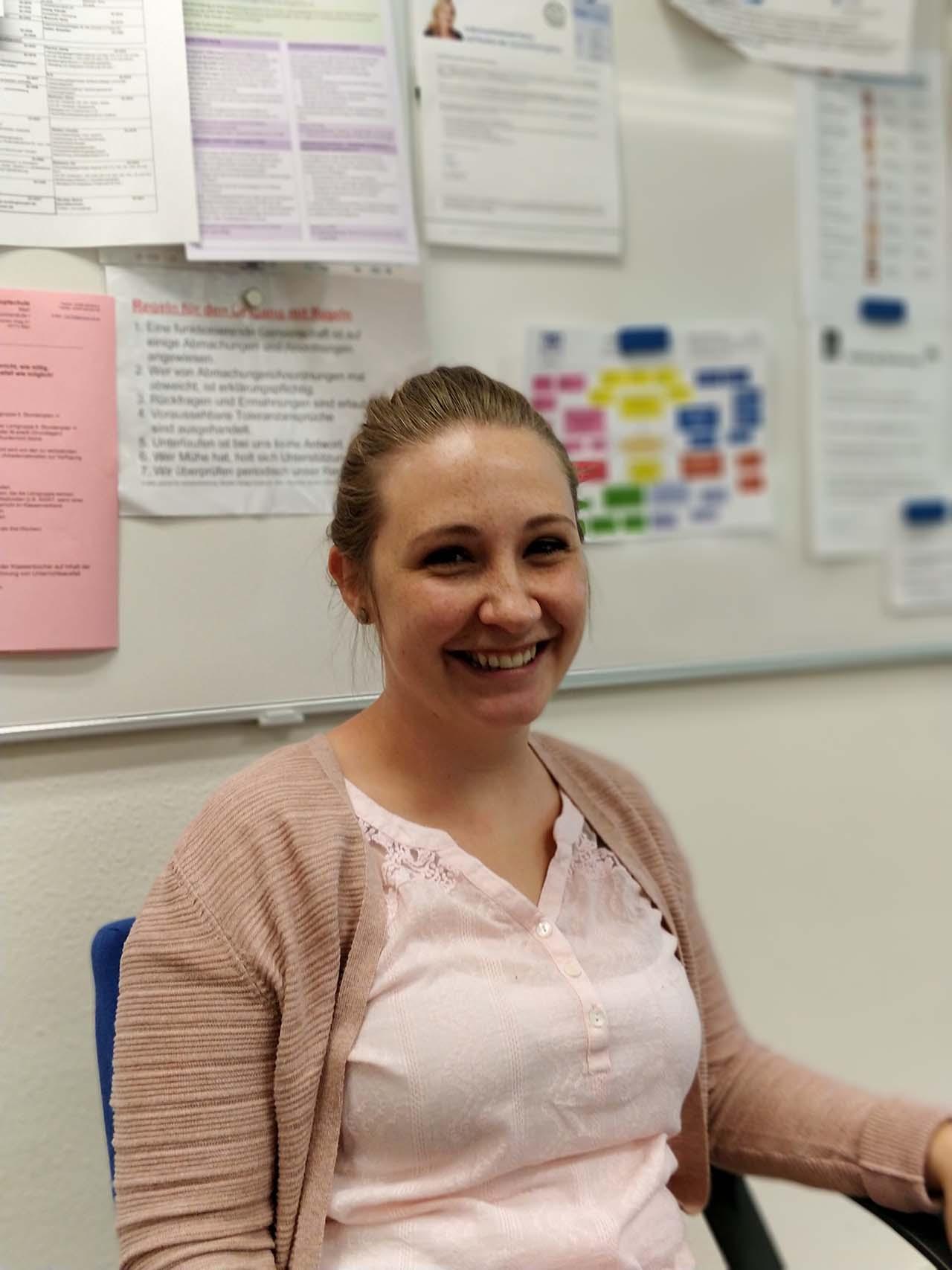 Birte Liedtke, Schulsozialarbeiterin der Katholischen Hauptschule Marl